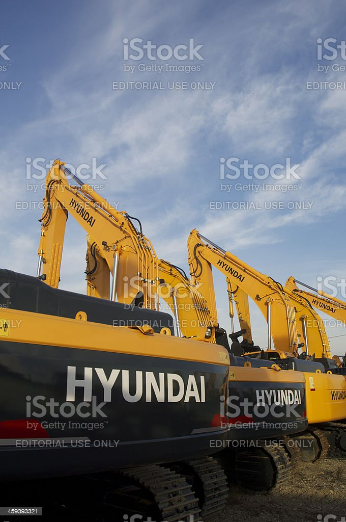 Hyundai Excavator Dealer Stock Photo & More Pictures of