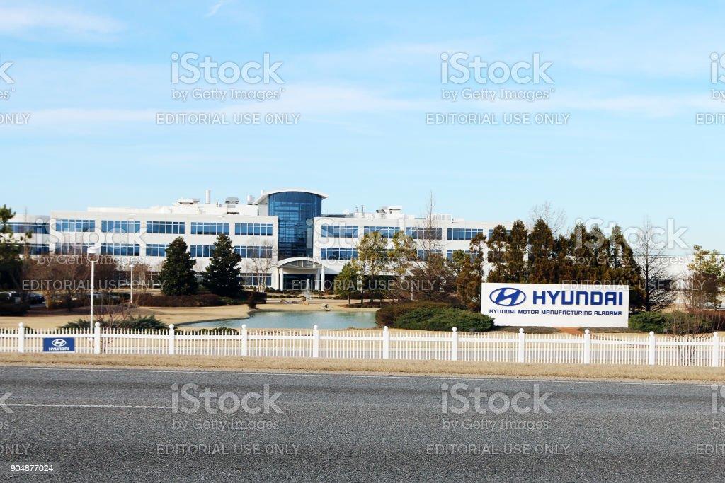 Hyundai factory in Montgomery, Alabama