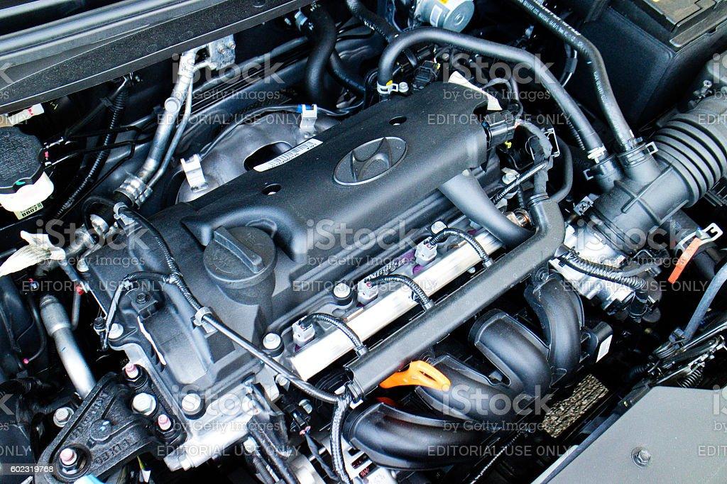 Hyundai i20 2016 Engine stock photo