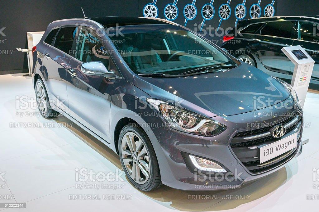 Hyundai i30 Wagon estate car stock photo