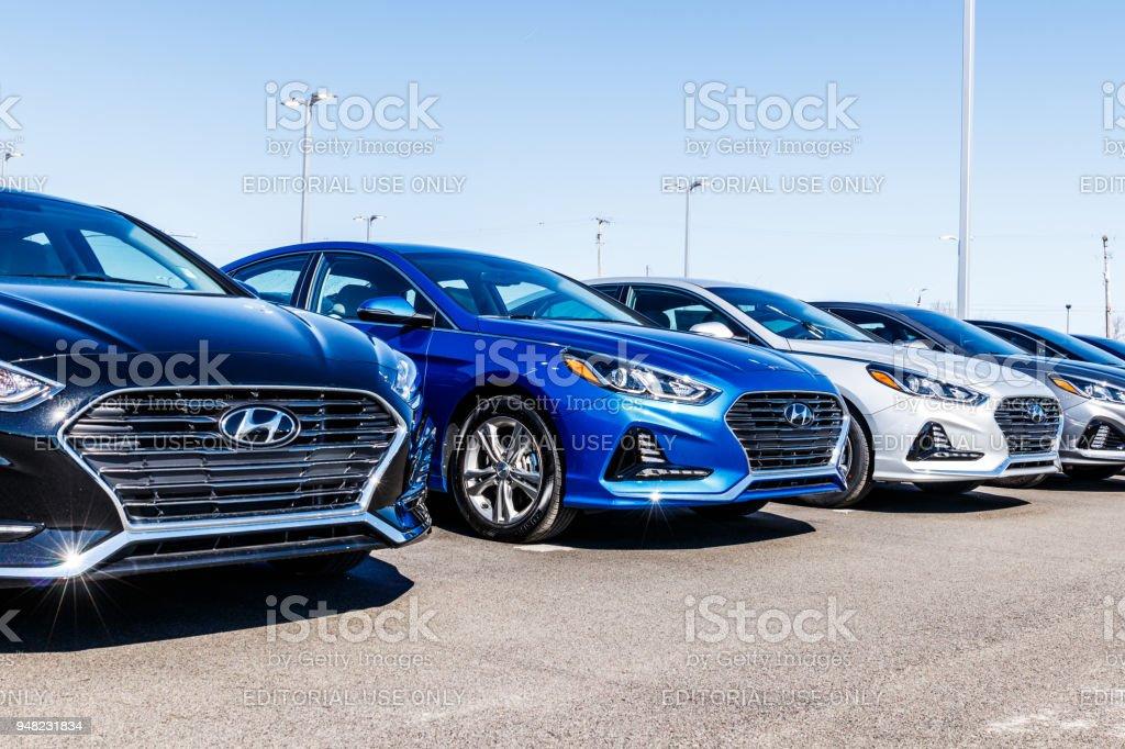 Hyundai Motor Company Dealership. Hyundai is a South Korean Multinational Automotive Manufacturer VIII stock photo