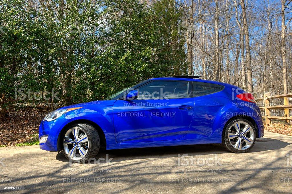 Hyundai Veloster 2 stock photo