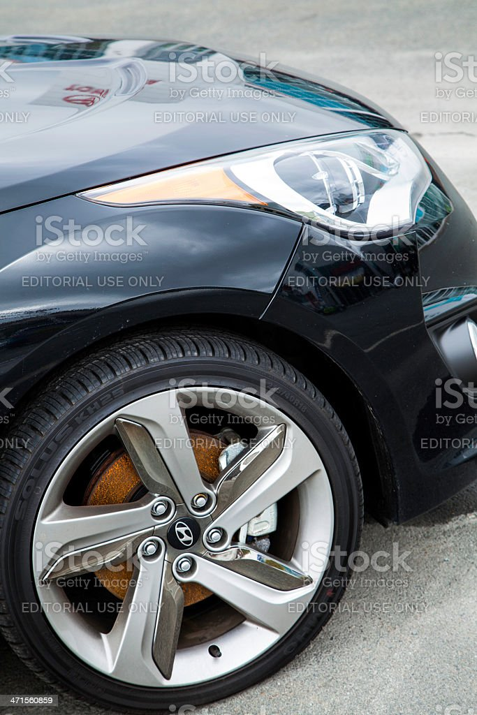Hyundai Veloster Turbo Front Wheel stock photo