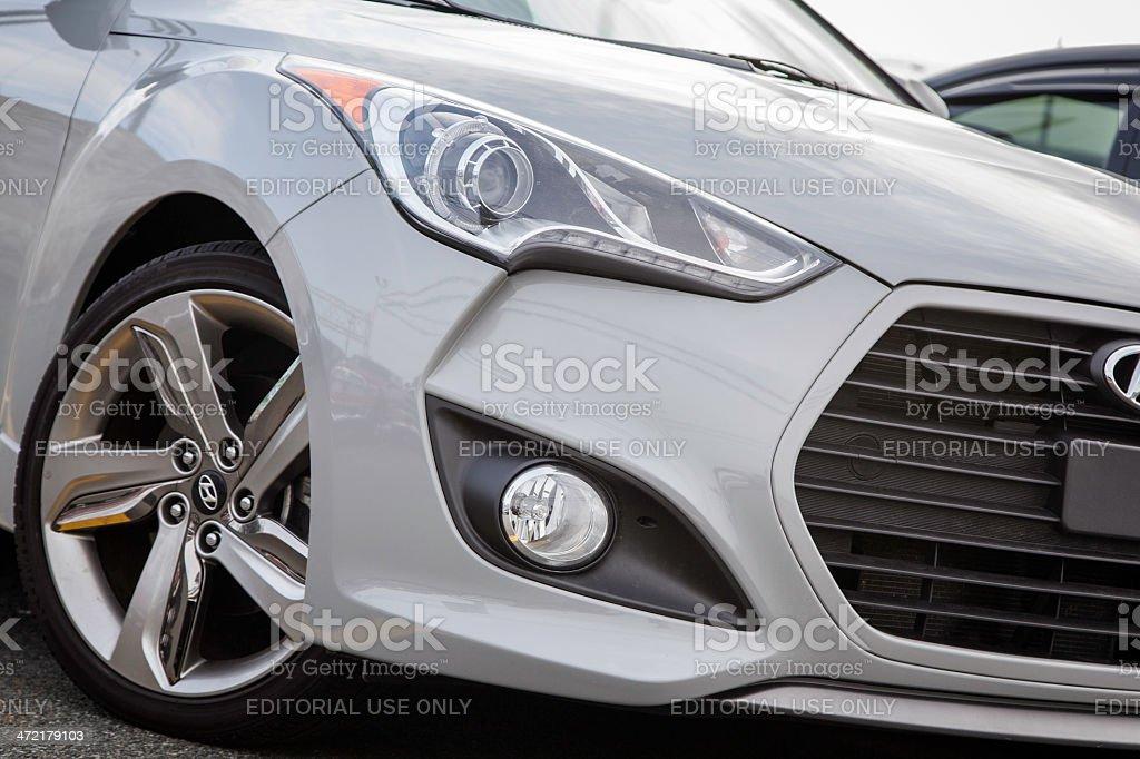 Hyundai Veloster Turbo stock photo
