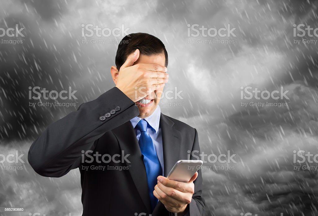 i dont want to answer this business call stock photo