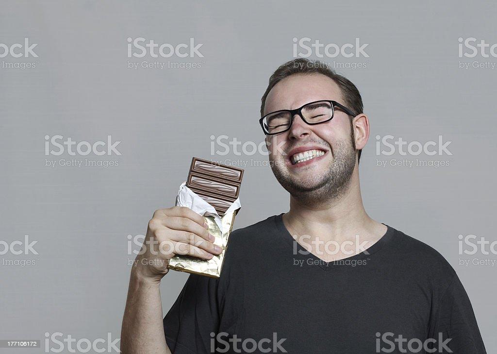 i like chocolate stock photo