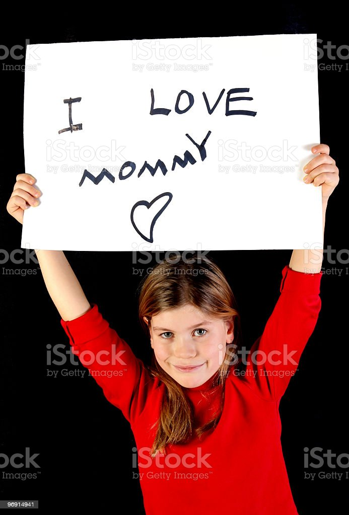 i love mommy royalty-free stock photo