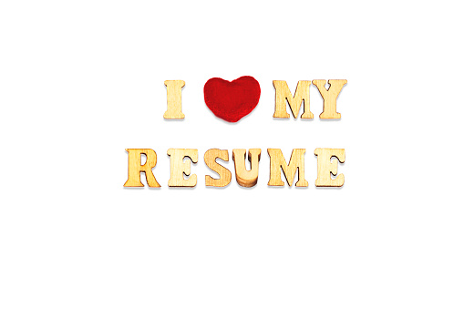 505935220 istock photo i love my resume composed with wooden letters isolated on white background 1174980240