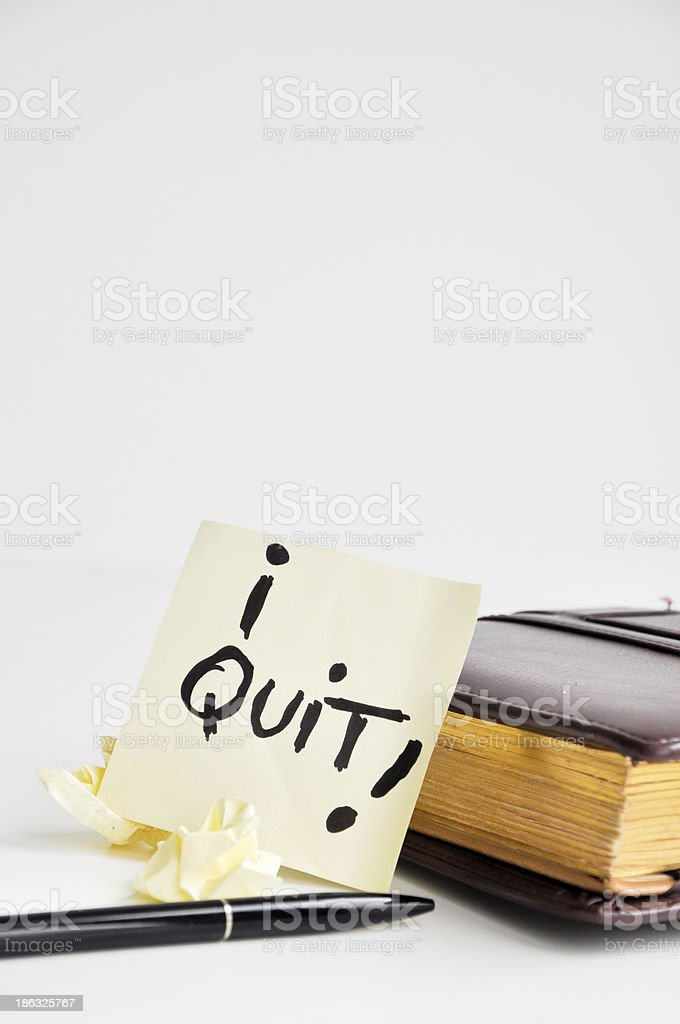 i quit my job royalty-free stock photo