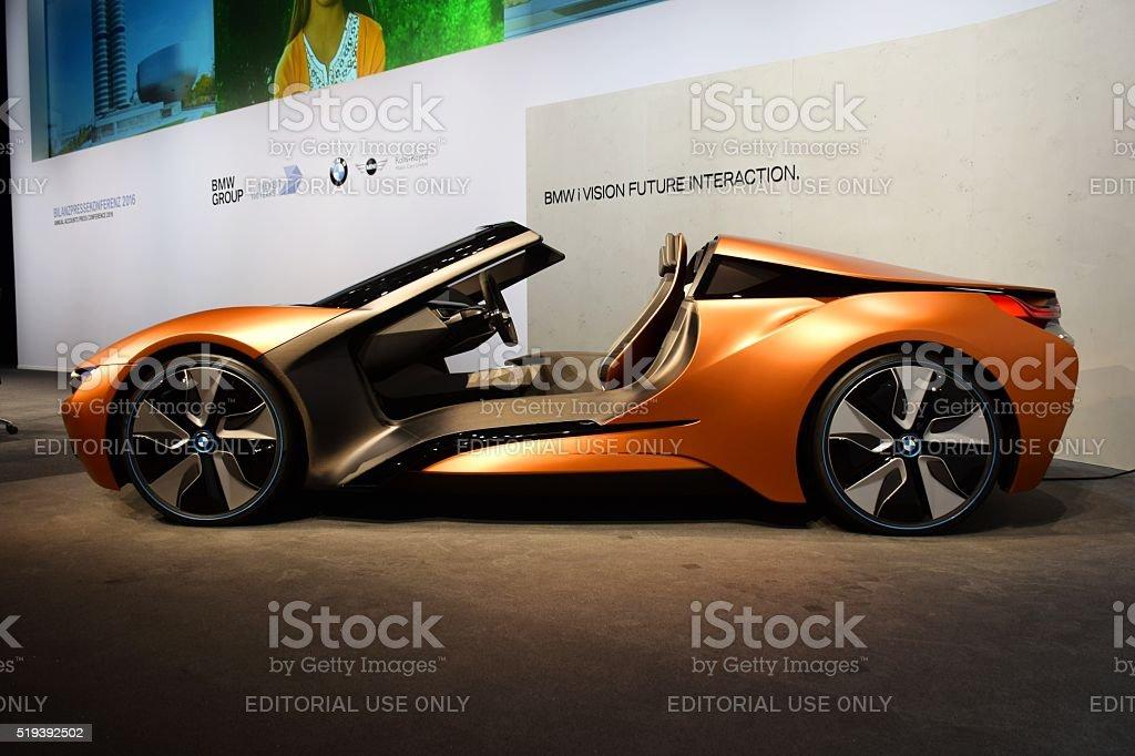 Mi visión futuro interacción de futurista automóvil de BMW - foto de stock