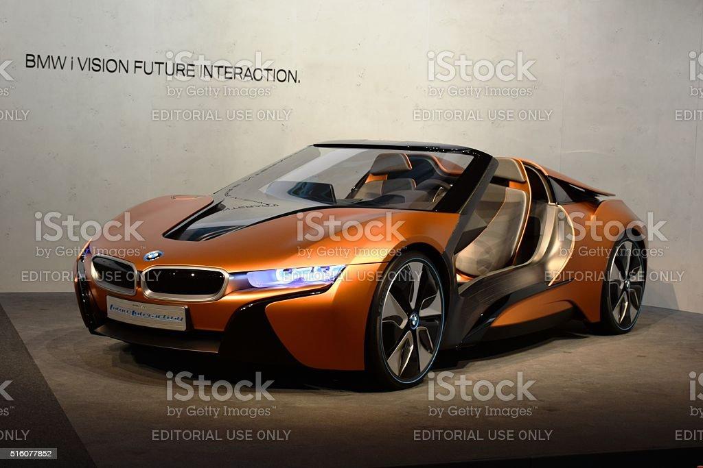 BMW mi visión futuro interacción en estática presentación - foto de stock
