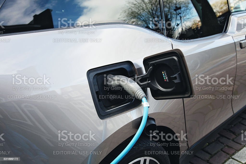 Bmw I3 Urban Electric Car Charging In Amsterdam Stock Photo Istock