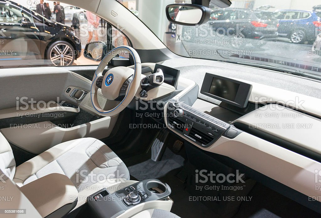 Bmw I3 Urban Electric Car Interior Stock Photo 505381698 Istock