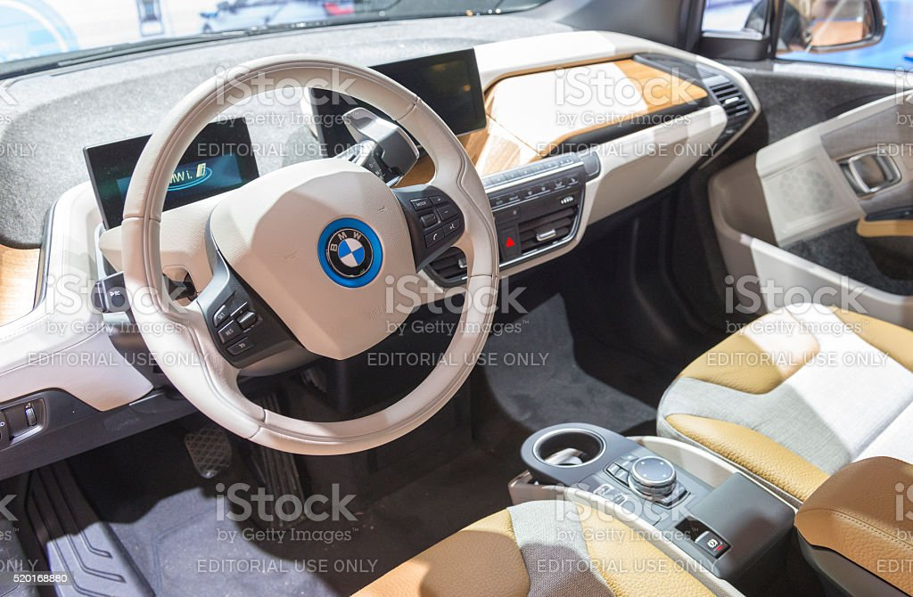 Bmw I3 Urban Electric Car Interior Stock Photo More Pictures Of