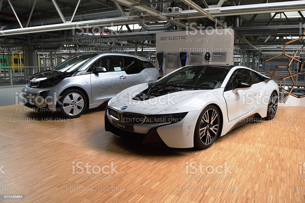 BMW I8 And BMW I3 In The Car Factory Royalty Free Stock Photo