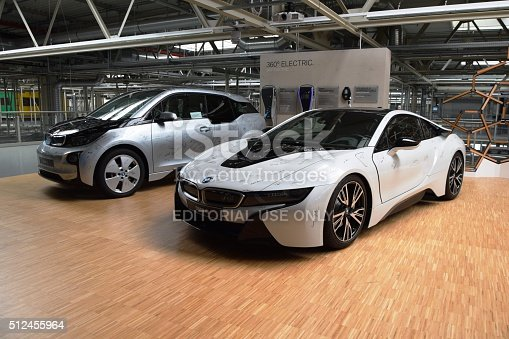 Bmw I8 And Bmw I3 In The Car Factory Stock Photo More Pictures Of