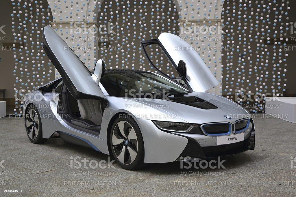 BMW i8 en el lanzamiento de prensa - foto de stock