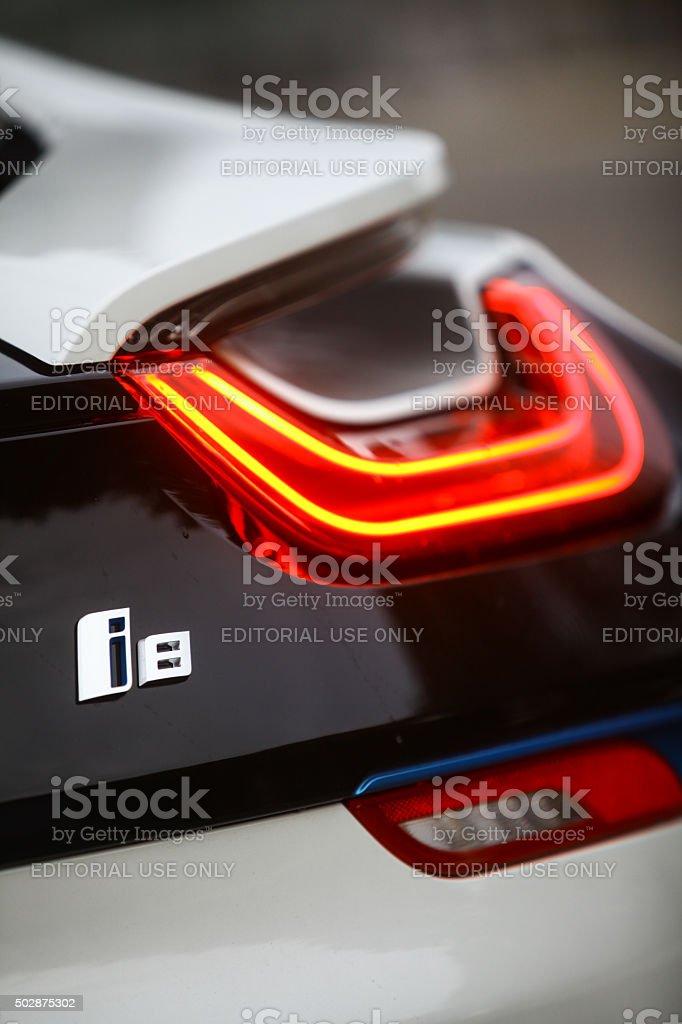 BMW i8 de luz apertura - foto de stock