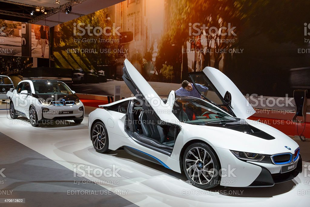 BMW i8 hybrid-Auto und BMW i3 electric car – Foto