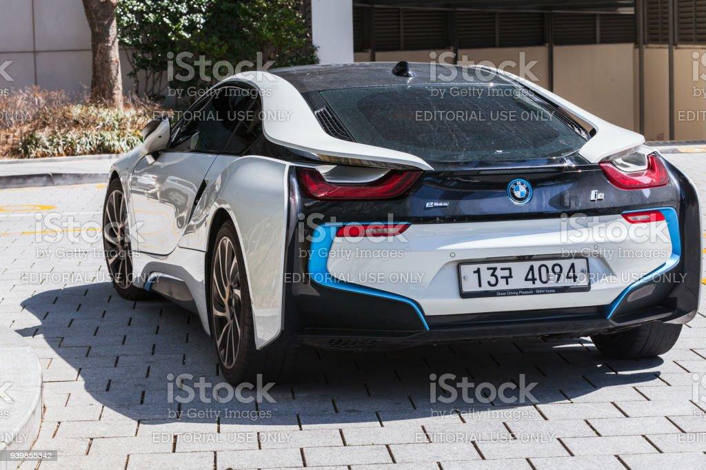 coche de deportivo híbrido i8 desarrollado por BMW - foto de stock