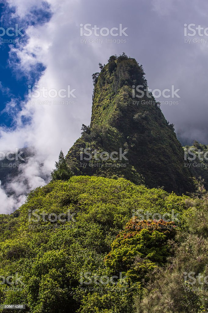 Iao Needle in Hawaii stock photo