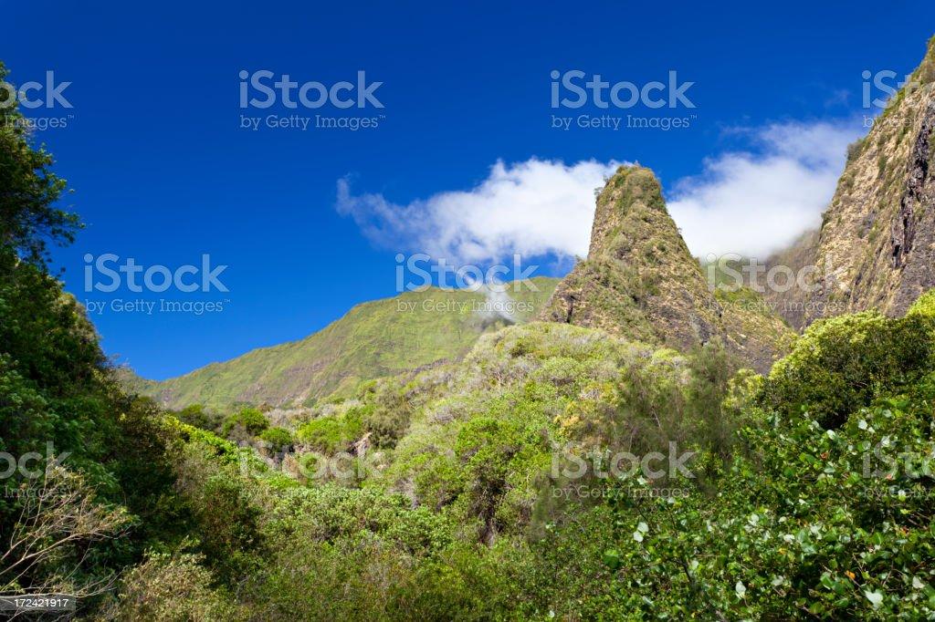 Iao Needle, Maui stock photo