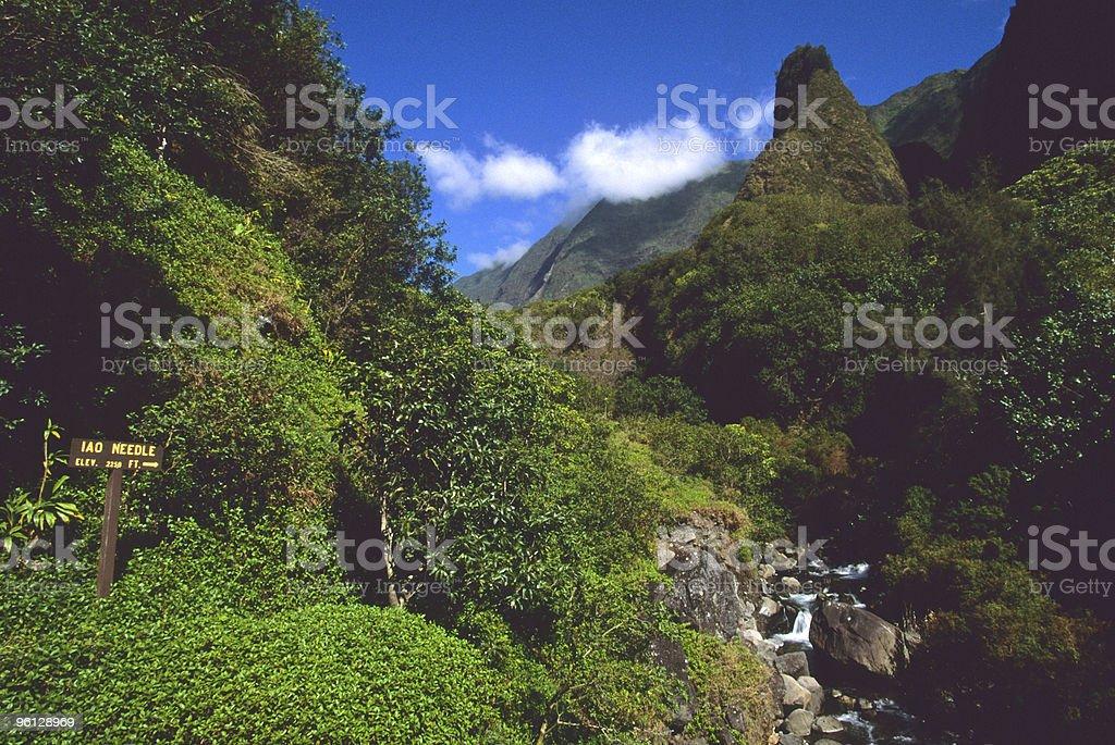 Iao Needle Maui stock photo