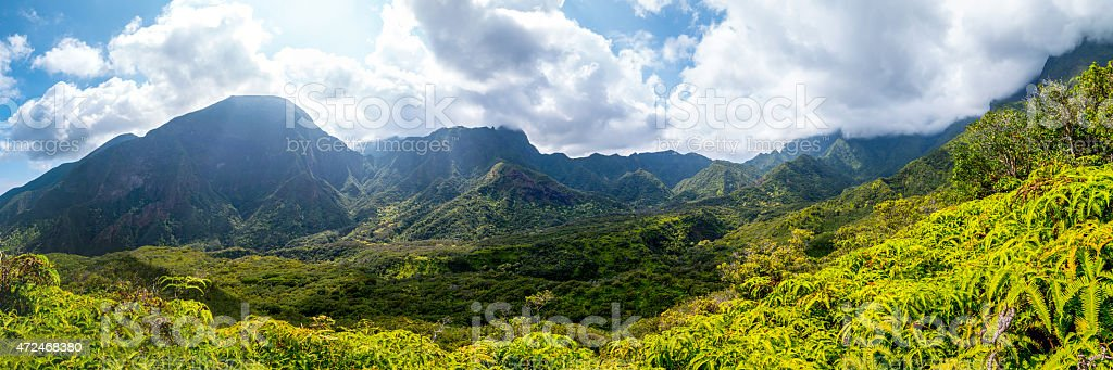 Iao Valley on Maui, Hawaii stock photo