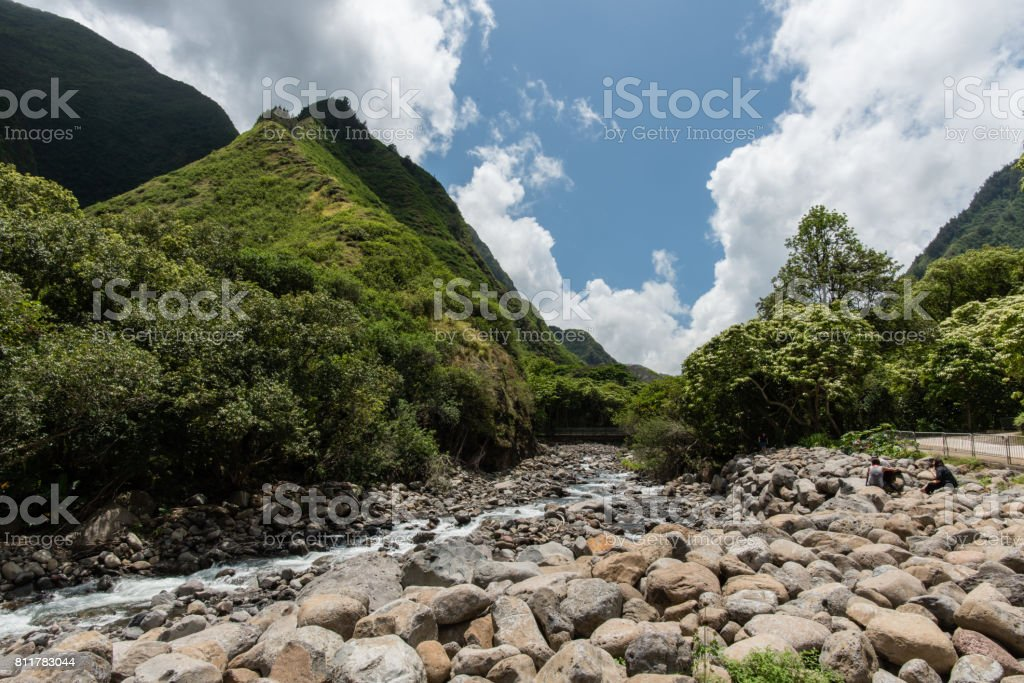 Iao Valley State Park, West Maui stock photo
