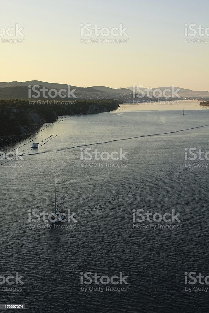 Šibenik`s bay royalty-free stock photo