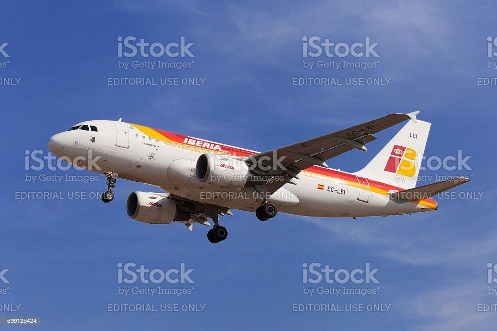 Iberia Airbus A319 stock photo
