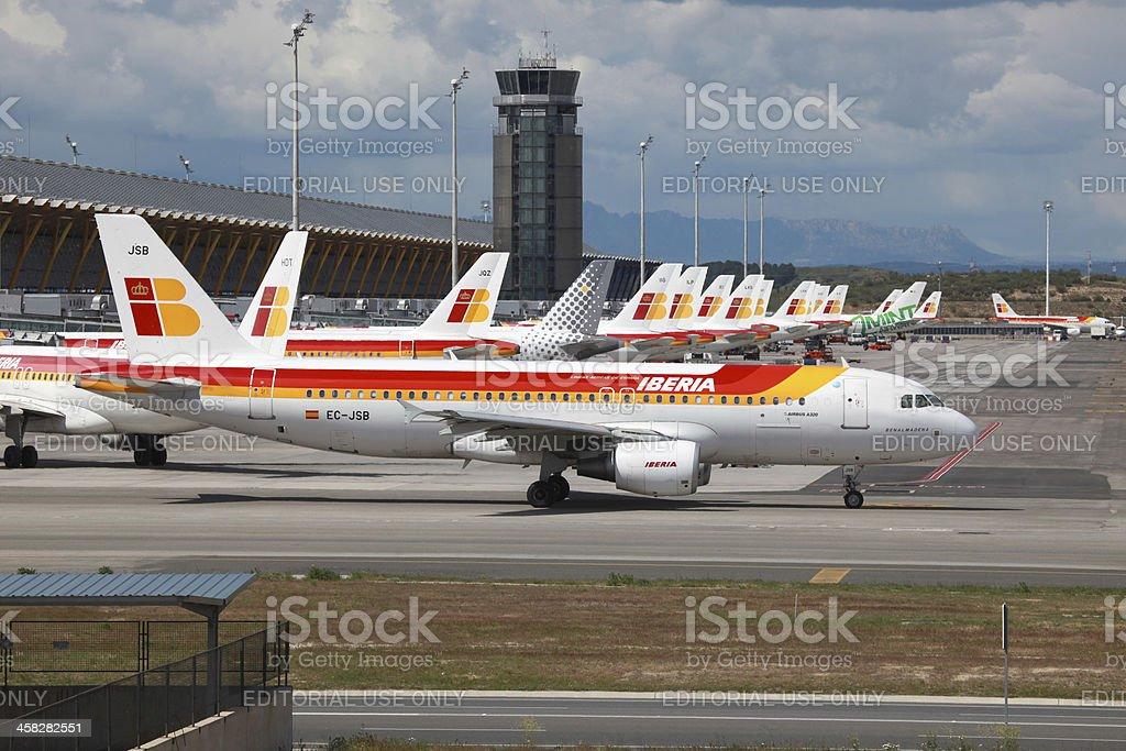 Iberia Airbus A320 in Madrid stock photo