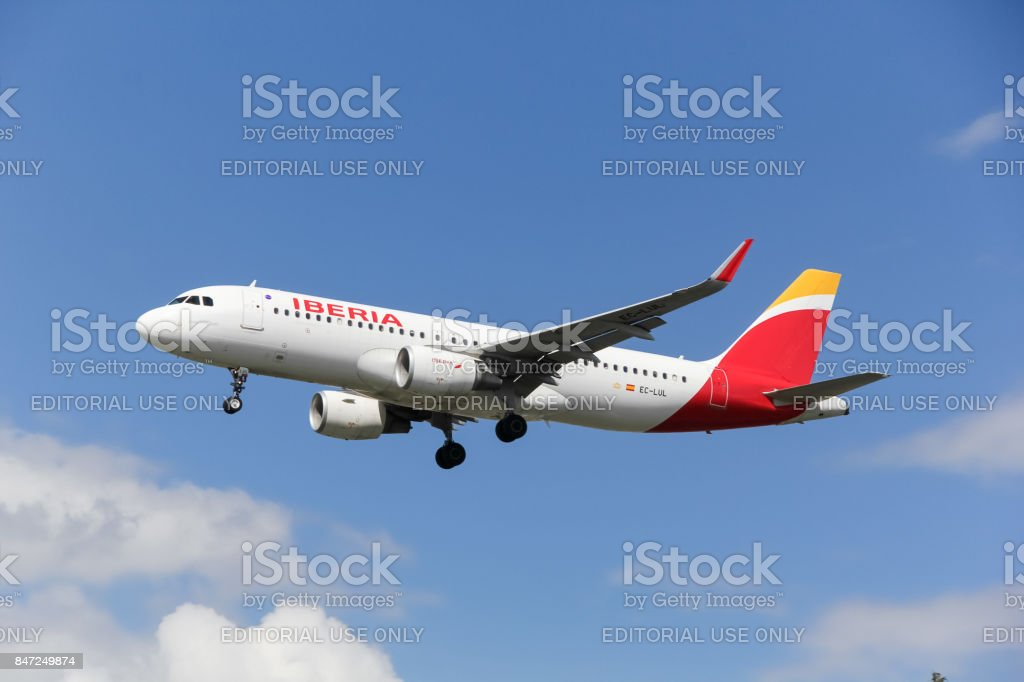 Iberia Airlines airbus a320 stock photo