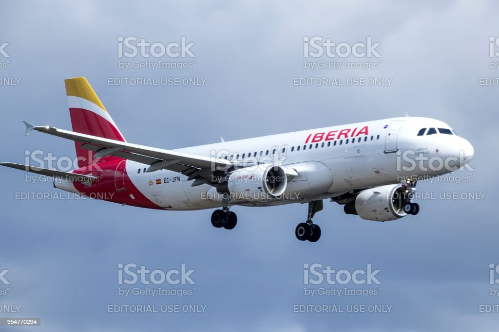 Iberia Spanish Airline Airbus A320214 Jet Aircraft Plane