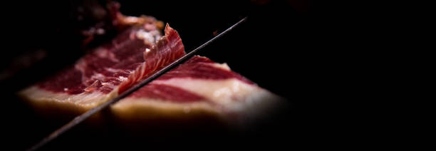 Iberian ham cutter Iberian ham cutter, banner format iberian stock pictures, royalty-free photos & images