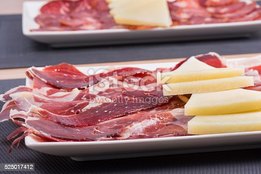 Table of Iberian and cheeses.