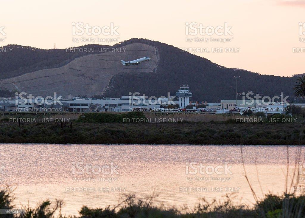 Ibiza Airport stock photo