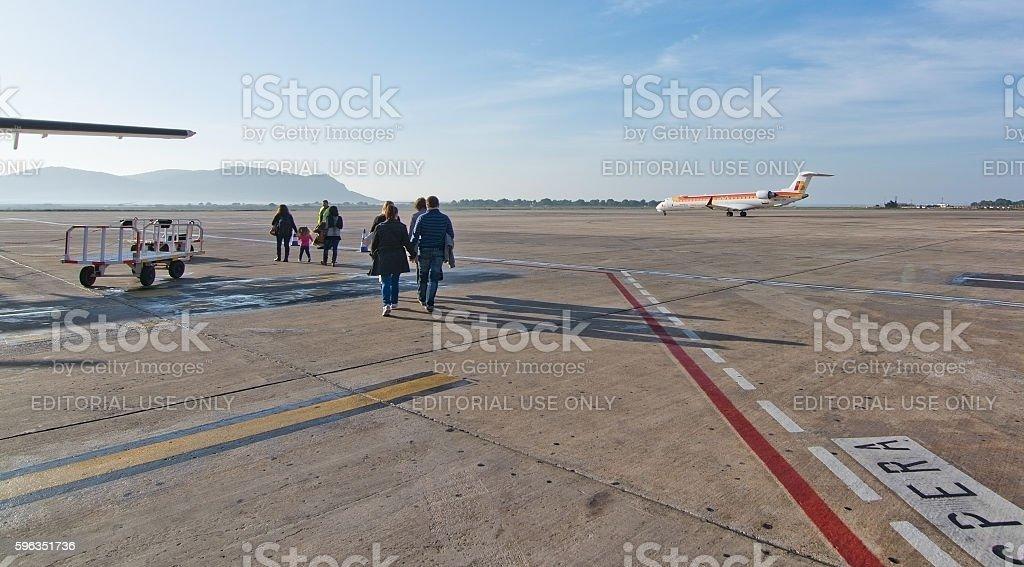 Flughafen Ibiza Asphalt Lizenzfreies stock-foto