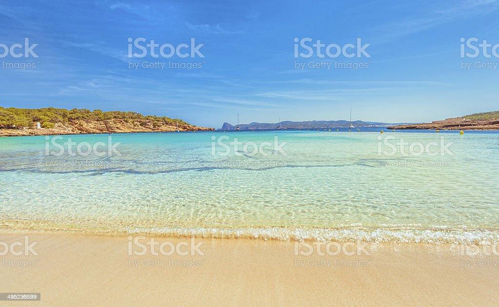 Ibiza - Cala Bassa stock photo