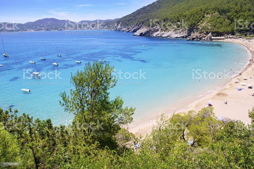 Ibiza Cala Sant Vicent caleta de san vicente stock photo