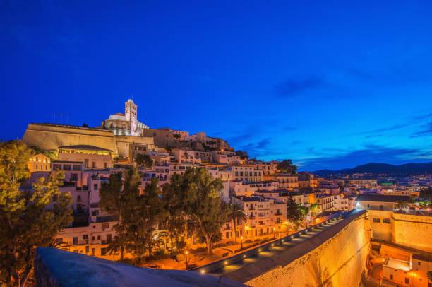 ibiza - eivissa town - ibiza imagens e fotografias de stock