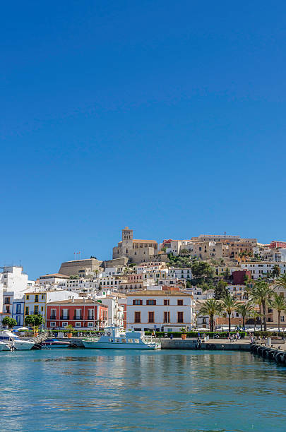 Ibiza Harbour stock photo