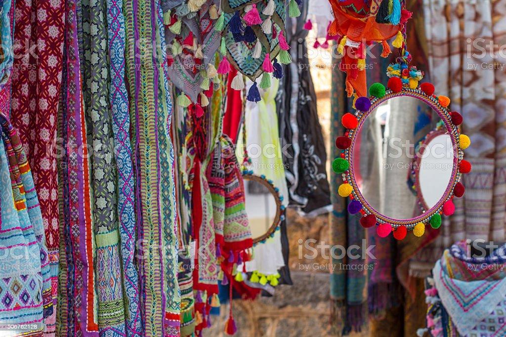 Ibiza hippy market stock photo