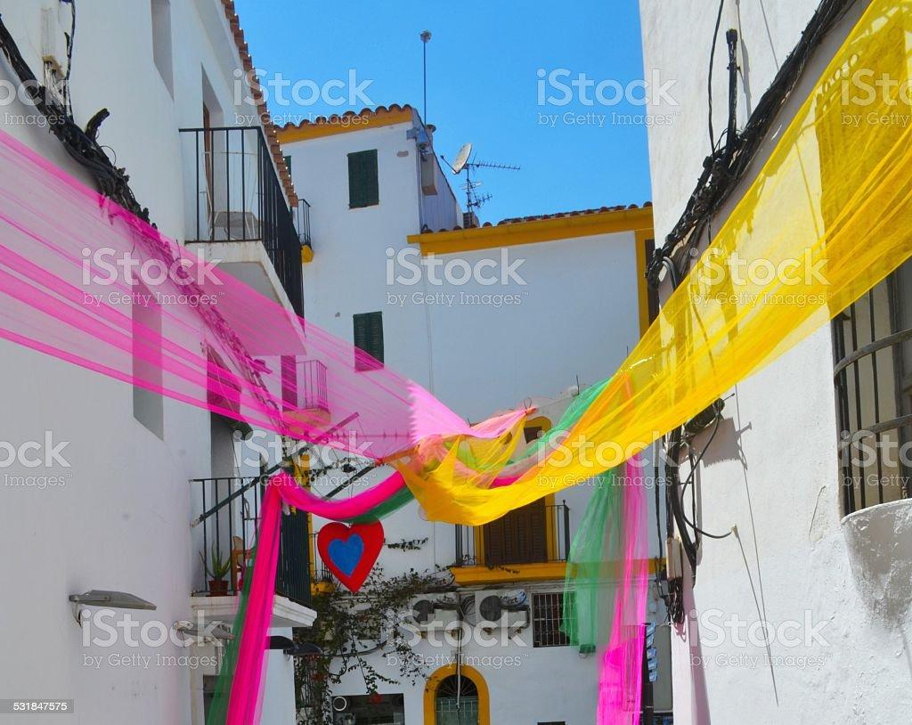 Ibiza. I colori e l'architettura dell'isola delle Baleari stock photo