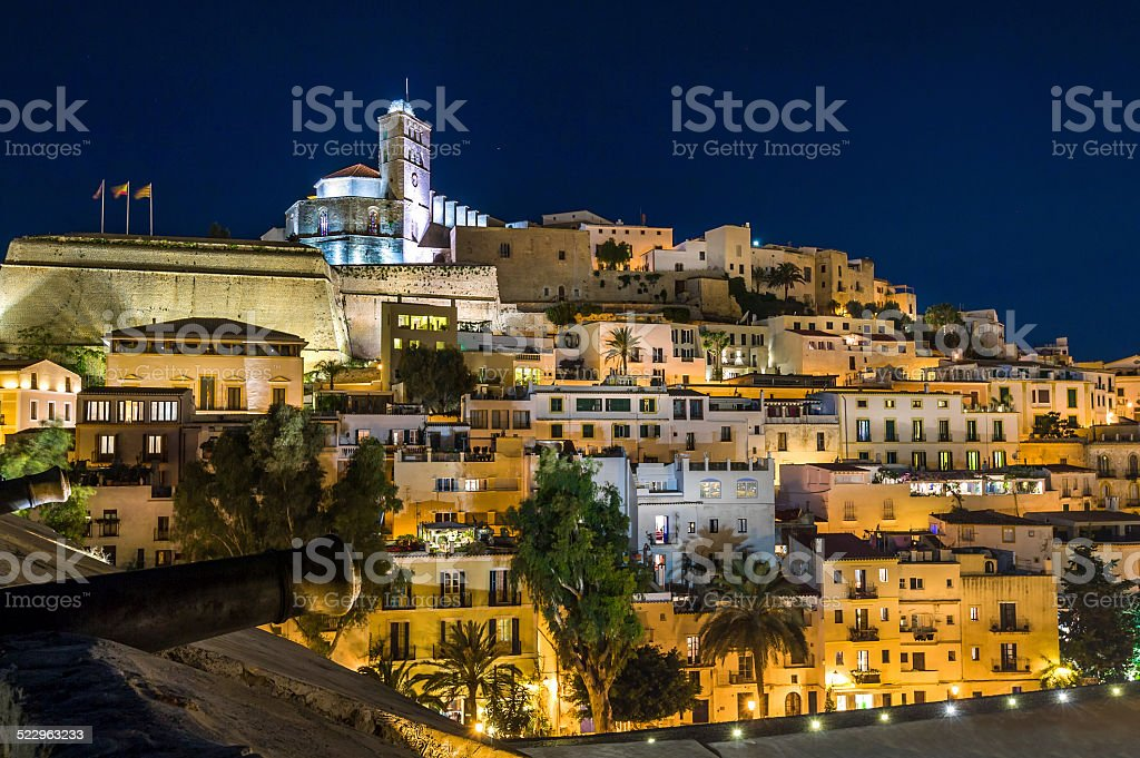 Ibiza old town Dart Vila stock photo