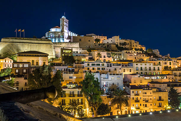 Ibiza old town Dart Vila stock photo
