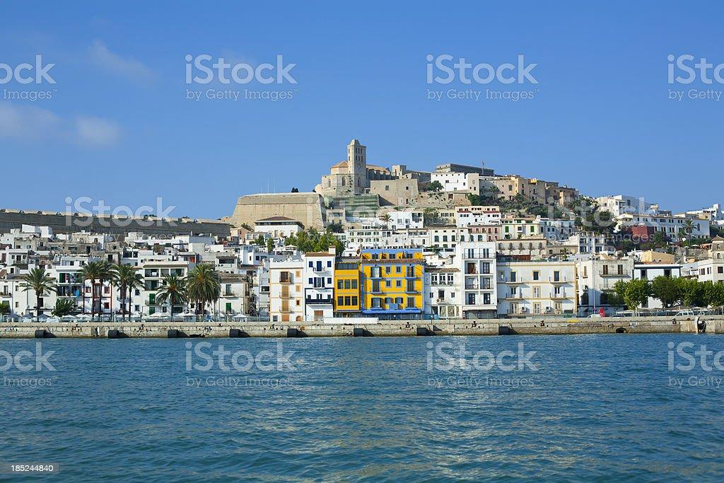 Ibiza, old town stock photo