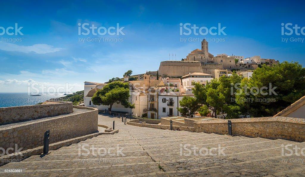 Ibiza old town stock photo