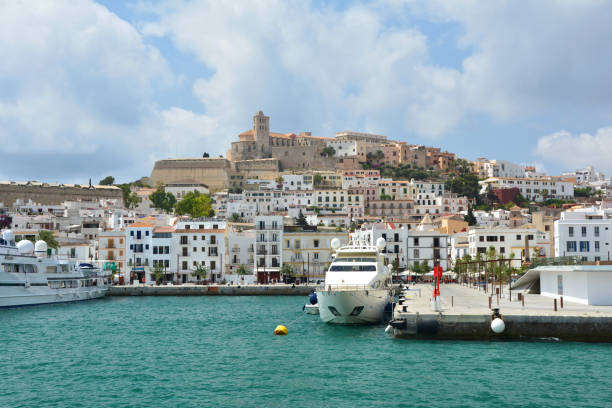 Ibiza old town stock photo