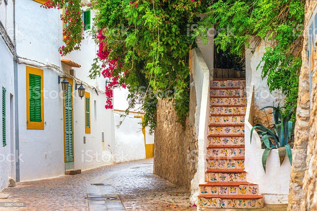 Ibiza Old Town scenery royalty-free stock photo